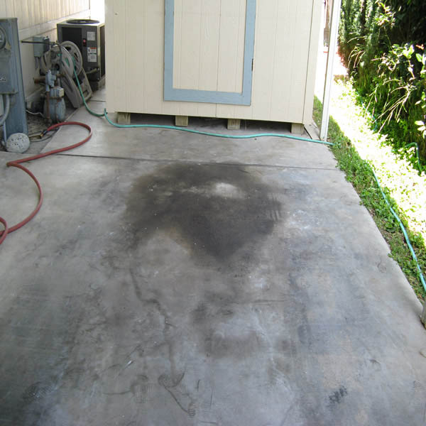 Pressure Washing Oil Stain Removal